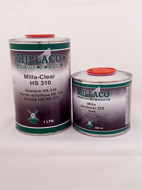 Millaco HS310 1Ltr with 222 Fast Hardener 500ml Kit