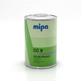 Mipa 2K-HS-Klarlack CC 9. Lacquer/Clearcoat 1 litre. Kit including hardener