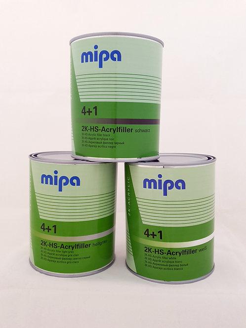 Mipa 4+1 Acrylfiller HS / Primer + H5 Hardener Kit