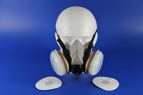 2K Disposable Twin respirator with A2, P2 cartridges