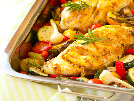 Stuffed Chicken with Roasted Vegetables