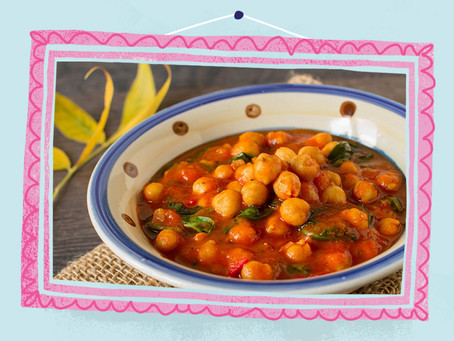 Spinach, Tomato and Chickpea Curry