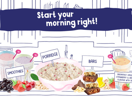 Breakfast kick starts your day