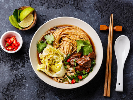 Beef and Rice Noodle Ramen