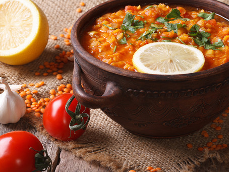 Spiced Dhal Roasted Winter Vegetables