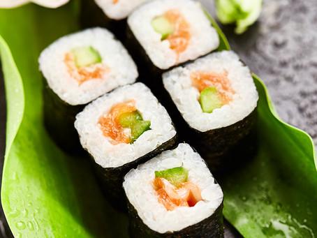 Smoked Salmon Sushi Rice Japanese Salad