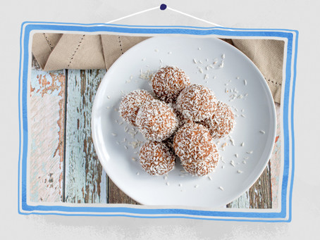 Strawberry and Coconut Bliss Balls