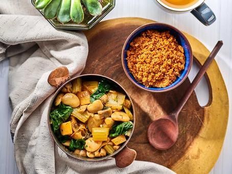 Winter Bean Stew Spicy Couscous