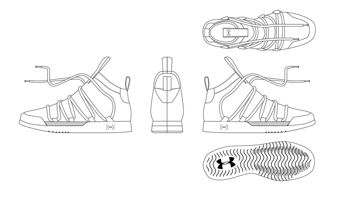 Sneaker Orthographic
