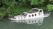 Sunken boat in France