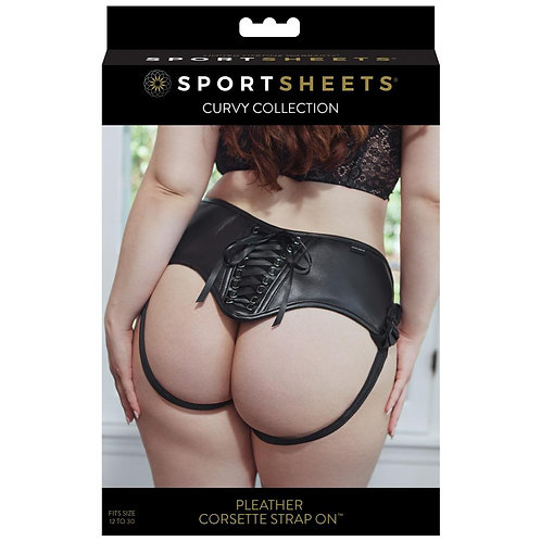 Sportsheets Pleather Strap On (Plus Size)