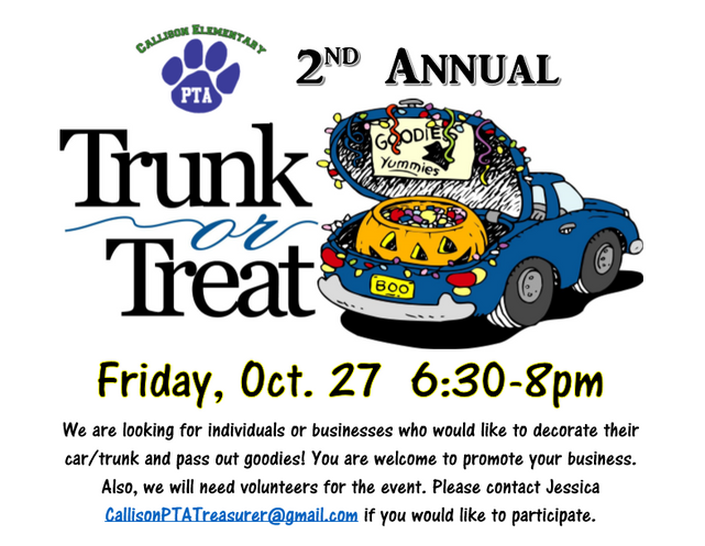 2nd Annual Trunk or Treat