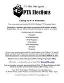Calling All PTA Members