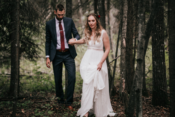 Woodland Wedding | Athabasca Wedding Photographer