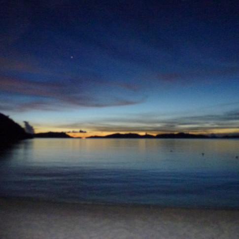 Quiet night sea