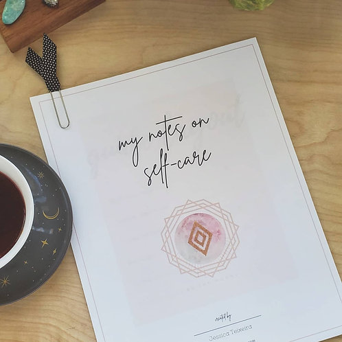Notes On Self-Care - Printable Guide
