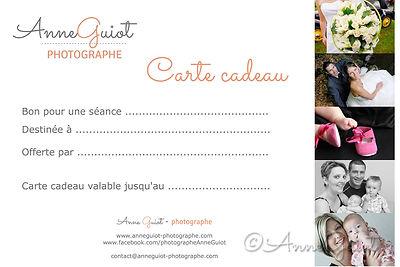 Anne Guiot, photographe, carte cadeau