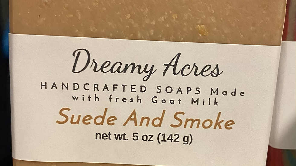 Suede and Smoke Goat Milk Soap