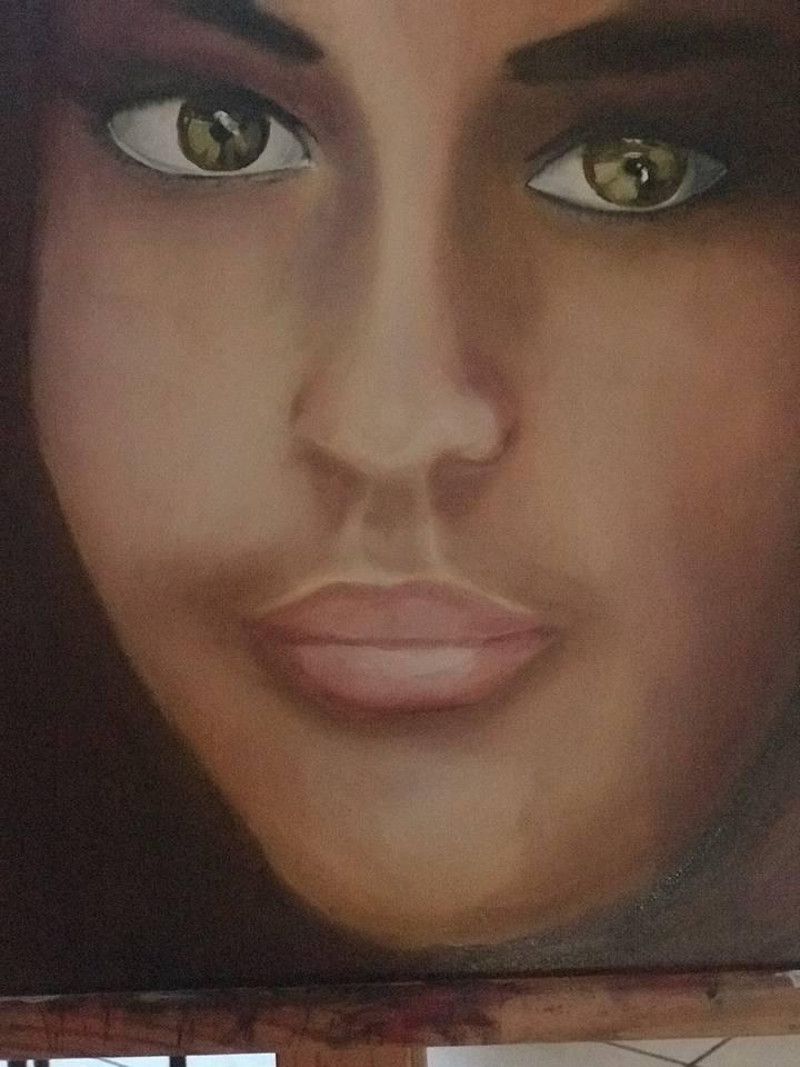 étude de visage par Anne D