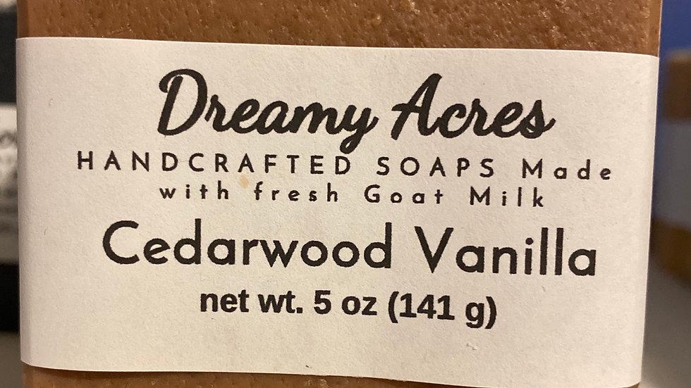 Cedarwood Vanilla Goat Milk Soap