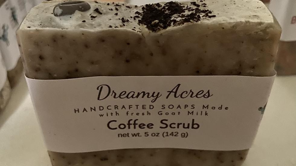 Unscented Coffee Scrub Goat Milk Soap