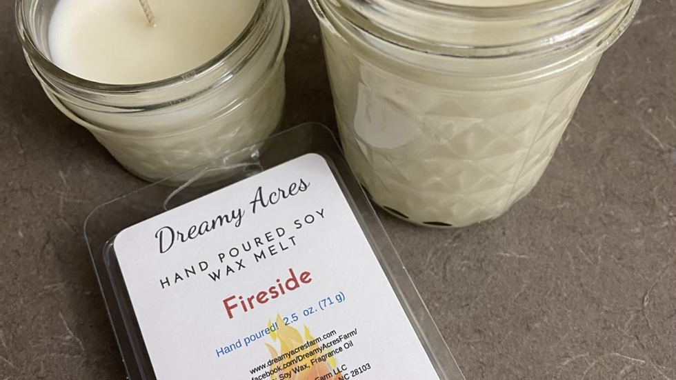 6 oz Fireside scented soy candle