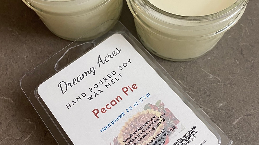 6 oz Pecan Pie scented soy candle