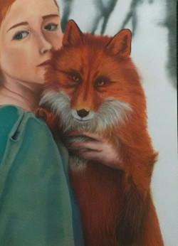 jeune fille au renard