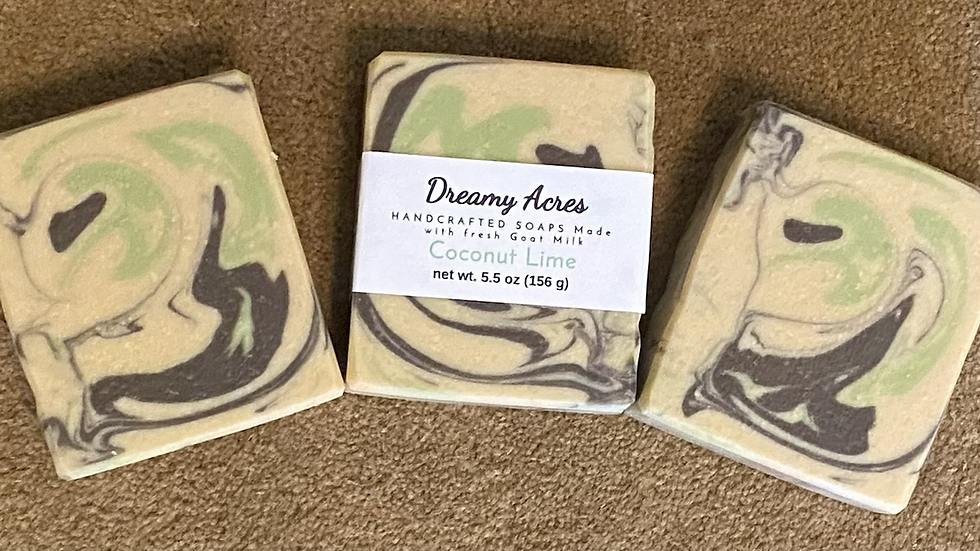 Coconut Lime Scented Goat Milk Soap