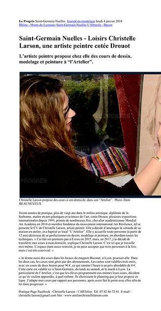 article de journal Christelle Janvier 20