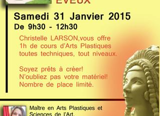 Cours d'essai gratuit à l'atelier le 31 janvier