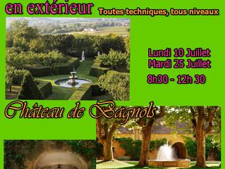 Stage d'été au château de Bagnols