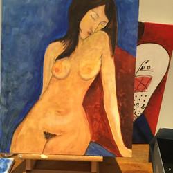 Nu Bleu de Modigliani
