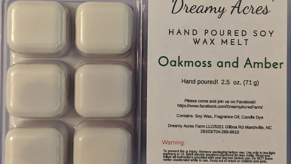 Oakmoss and Amber Wax Melt