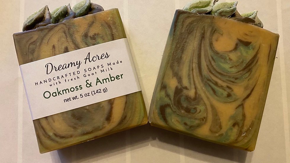 Oakmoss & Amber Goat Milk Soap