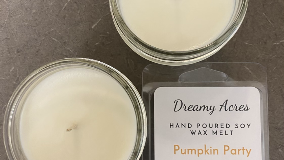 3 oz Pumpkin Party scented soy candle