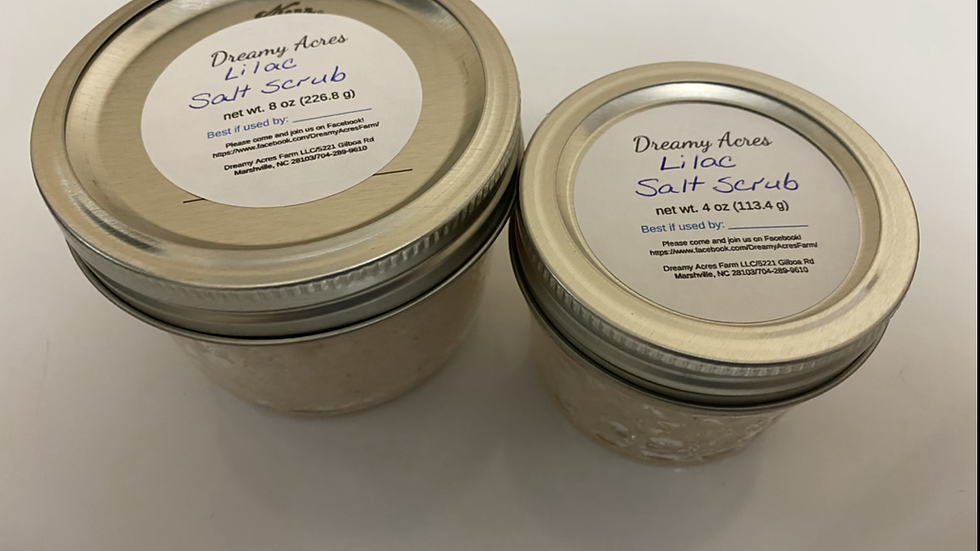 4 oz Lilac Salt Scrub