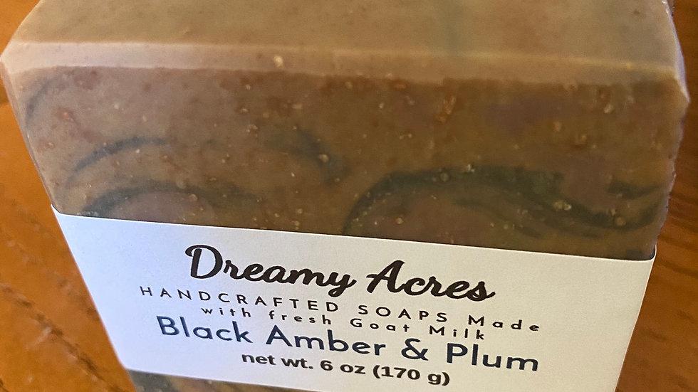 Black Amber & Plum Goat Milk Soap