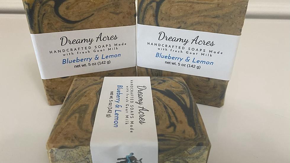 Blueberry & Lemon Scented Goat Milk Soap