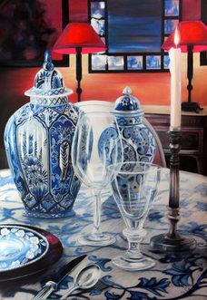 Une touche de bleu 50 x 70 cm vendu