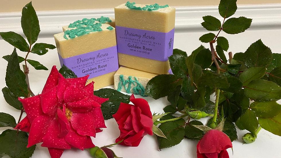 Golden Rose Scented Goat Milk Soap