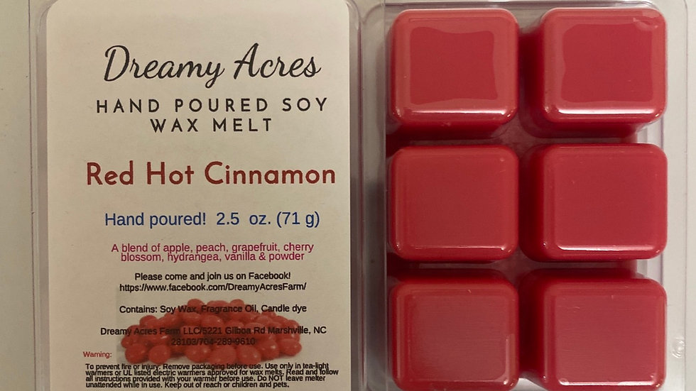 Red Hot Cinnamon Wax Melt