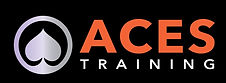 The Ace of spades symbol in a circle with Aces Training written in orange and white