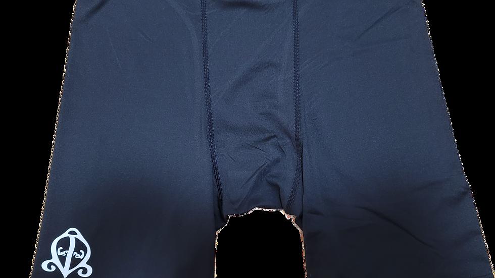 Black/White Compression Shorts