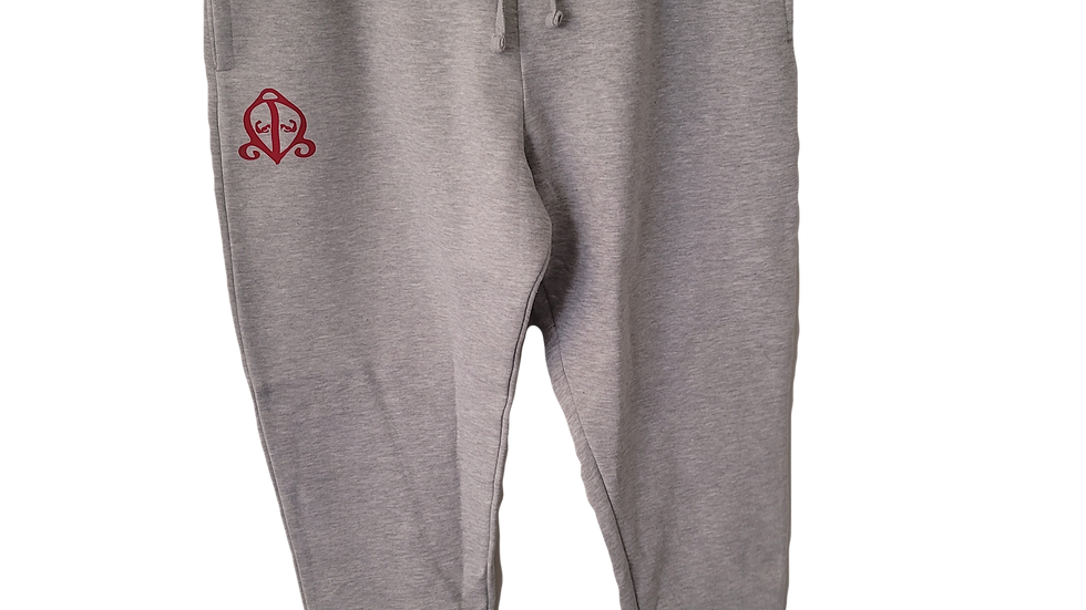 Light Gray/Red Joggers