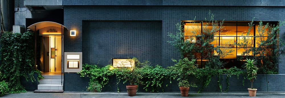 2009年から大阪市福島に構えるミチノ・ル・トゥールビヨンの外観