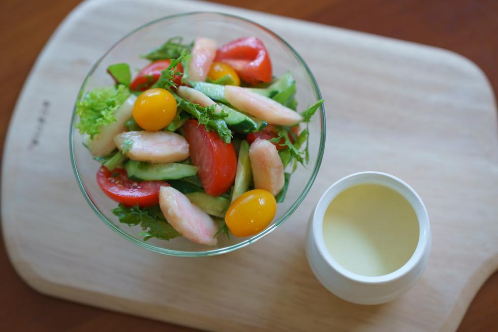 食欲がない暑い日は桃のサラダで