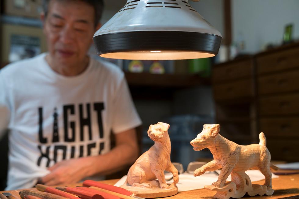 糸島彫刻 生き物係プロジェクト05 ラムの尻尾修正〜粗仕上げ