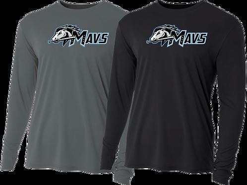 Men's/Youth L/S Dry Fit Tee - Mavs Baseball