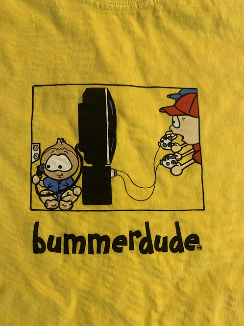 Remote into the TV Bummerdude tee (Yellow)